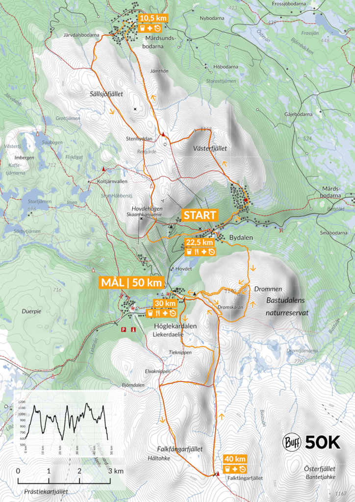 Karta Bydalsfjällen 50K