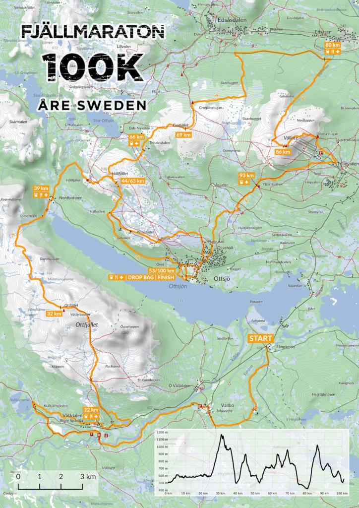 Karta Fjällmaraton 100K